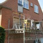 Ny vindues åbning og trappe parti